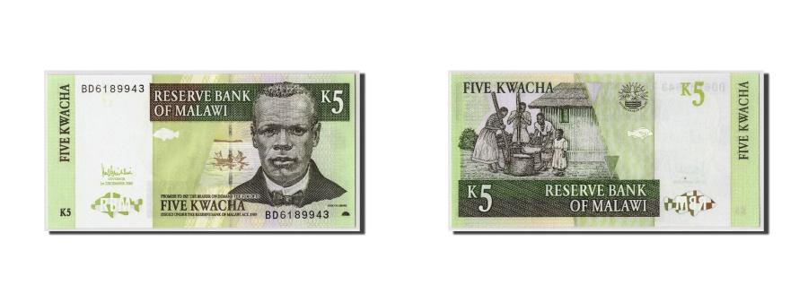 World Coins - Malawi, 5 Kwacha, 2005, 2005-12-01, KM:36c, UNC(65-70)