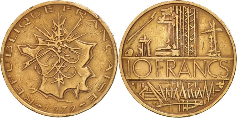 World Coins - France, Mathieu, 10 Francs, 1979, Paris, , Nickel-brass, KM:940