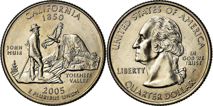 US Coins - Coin, United States, California, Quarter, 2005, U.S. Mint, Philadelphia