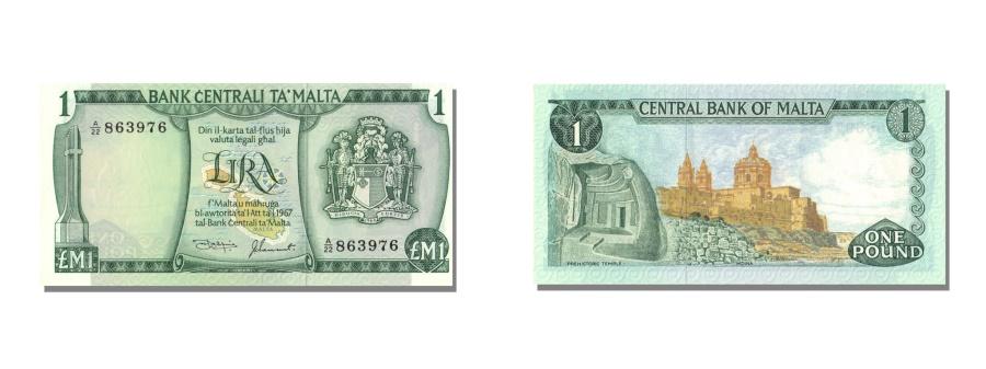 World Coins - Malta, 1 Lira, 1967, KM #31d, UNC(65-70), A/22