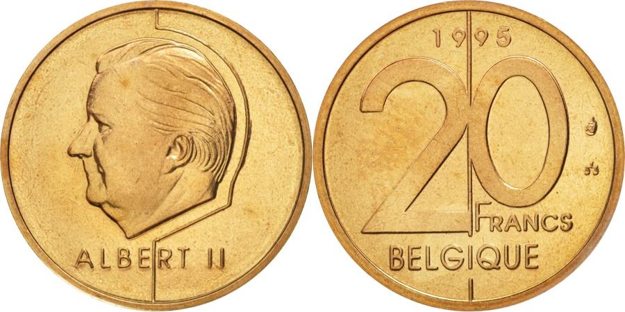 World Coins - Belgium, Albert II, 20 Francs, 20 Frank, 1995, Brussels, , KM 191