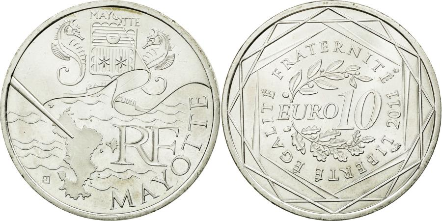 World Coins - Coin, France, 10 Euro, 2011, MS(60-62), Silver, KM:1726