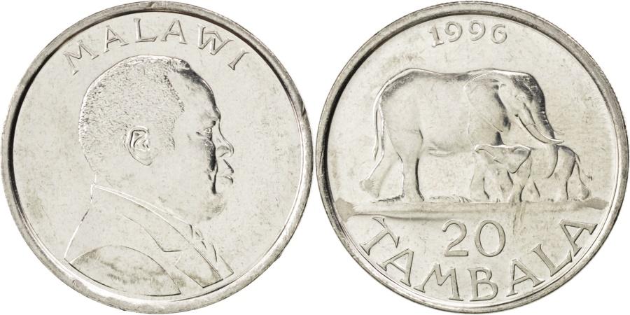 World Coins - Malawi, 20 Tambala, 1996, KM #29, , Nickel plated steel, 26.5, 7.63