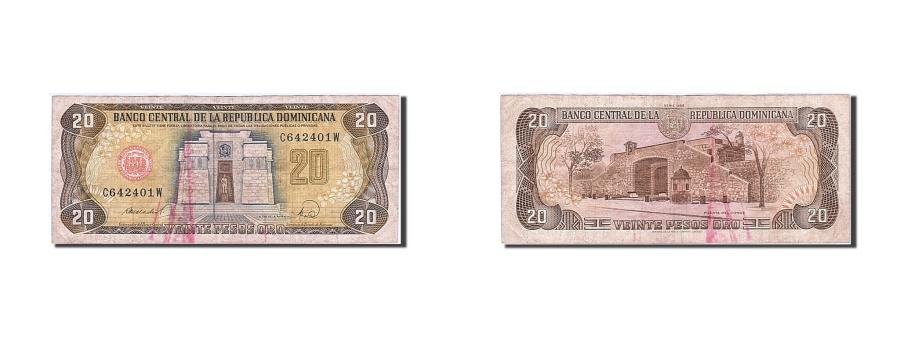World Coins - Dominican Republic, 20 Pesos Oro, 1992, 1977-1980, KM:120c, VF(20-25)