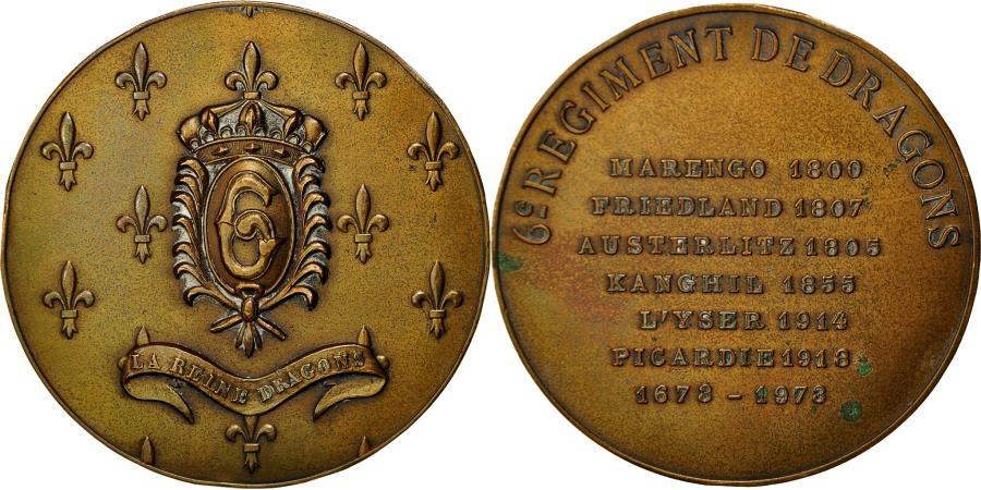 World Coins - France, Medal, Militaire, 6ème Régiment de Dragons, 1973, , Bronze