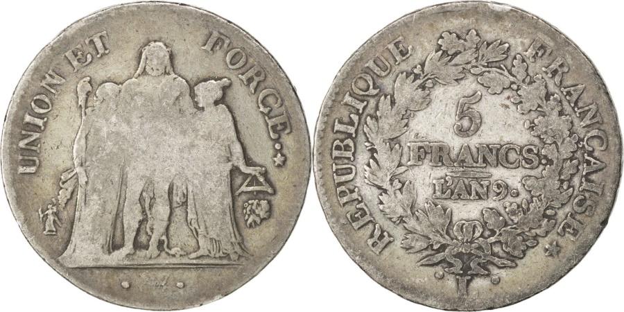 World Coins - FRANCE, Union et Force, 5 Francs, 1800, Bayonne, KM #639.6, , Silver,..