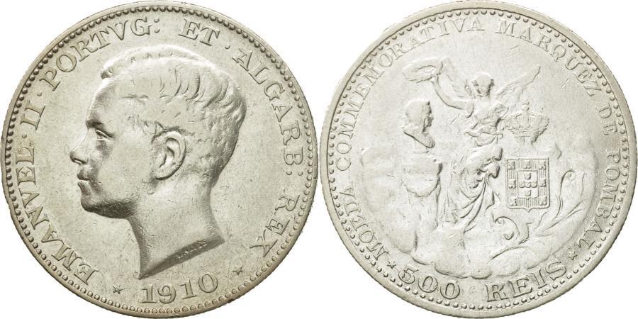 World Coins - Coin, Portugal, Manuel II, 500 Reis, 1910, , Silver, KM:557