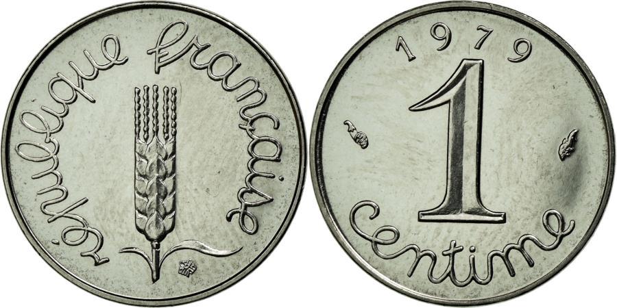 World Coins - Coin, France, Épi, Centime, 1979, Paris, MS(63), Stainless Steel, KM:928