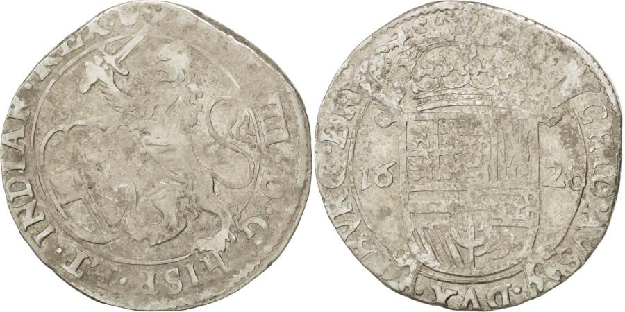 World Coins - SPANISH NETHERLANDS, Escalin, 1628, Antwerp, KM #52.1, , Silver, 4.83