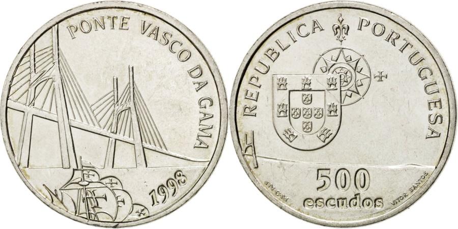 World Coins - PORTUGAL, 500 Escudos, 1998, KM #705, , Silver, 13.94
