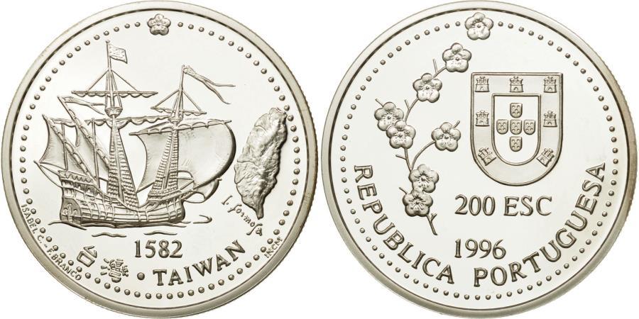 TAIWAN 200 ESCUDOS PORTUGAL 1996