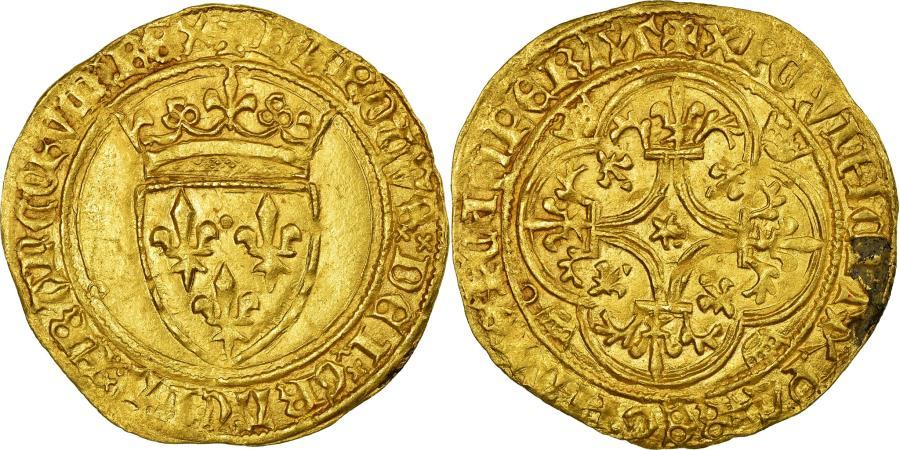 World Coins - Coin, France, Ecu d'or, Saint Lô, AU(55-58), Gold, Duplessy:369D