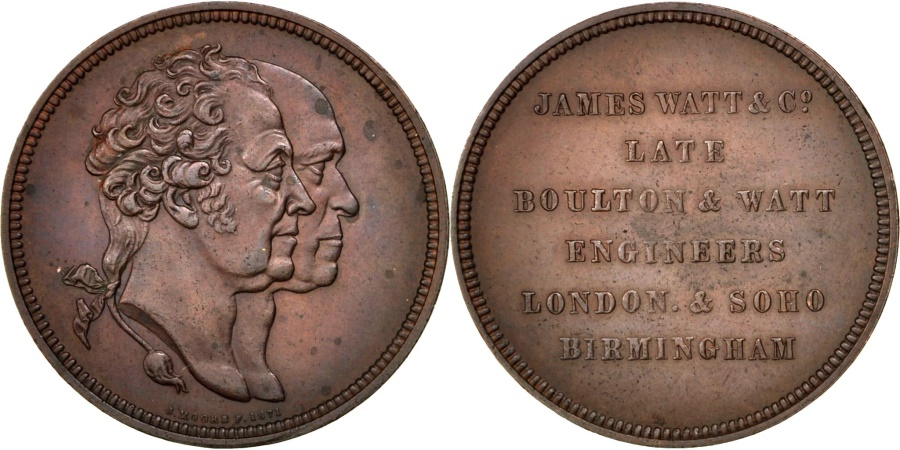 World Coins - Great Britain, Business & industry, Medal, , Copper, 38, 28.30