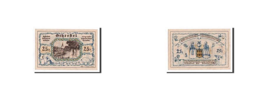 World Coins - Germany, Scheessel, 25 Pfennig, personnage, 1921-01-01, UNC(65-70), Mehl:1174.1b