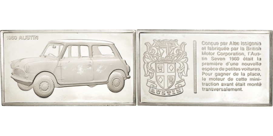 World Coins - FRANCE, Automobile, French Fifth Republic, Medal, , Silver, 32, 65.60