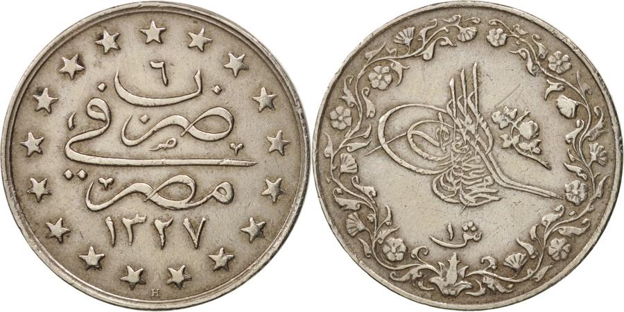 World Coins - Egypt, Muhammad V, Qirsh, 1913, Misr, , Copper-nickel, KM:306