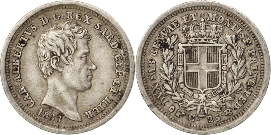 Italian states sardinia carlo alberto 25 centesimi for Coin torino