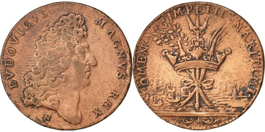 World Coins - France, Royal, Token, , Copper, 25, Feuardent #12915, 4.90