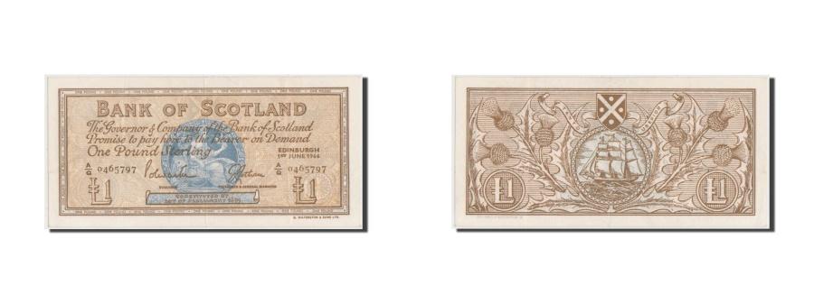 World Coins - Scotland, 1 Pound, 1966, KM #105a, AU(55-58), A/Q 0465797