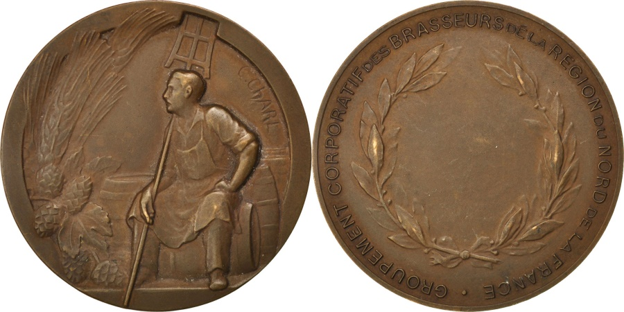World Coins - FRANCE, Business & industry, French Fifth Republic, Medal, , Bronze,...