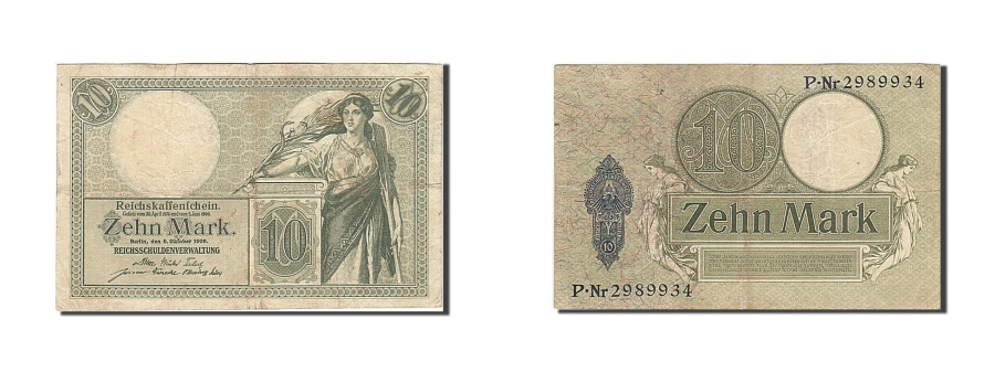 World Coins - Germany, 10 Mark, 1904-1906, KM:9b, 1906-10-06, VF(20-25)