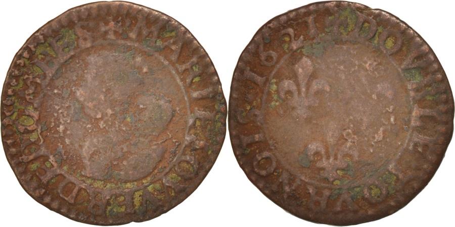 World Coins - FRENCH STATES, DOMBES, Double Tournois, 1621, Trévoux, , KM:24