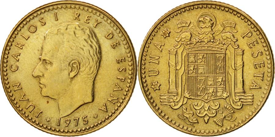 World Coins - Spain, Juan Carlos I, Peseta, 1975, , Aluminum-Bronze, KM:806
