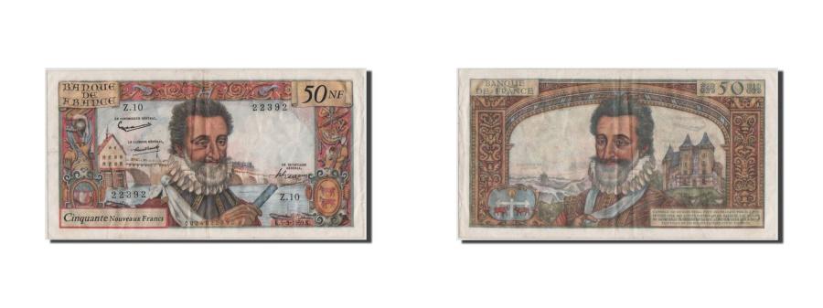 World Coins - France, 50 Nouveaux Francs, 50 NF 1959-1961 ''Henri IV'', 1959, KM #143a,...