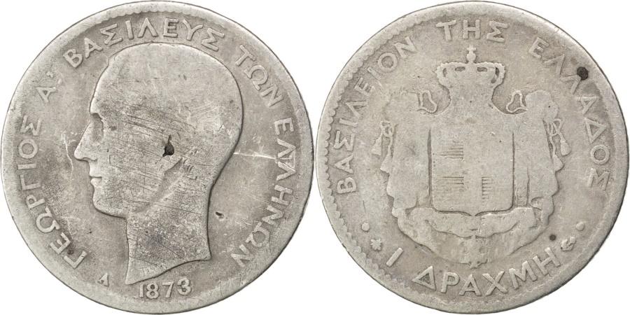World Coins - GREECE, Drachma, 1873, Paris, KM #38, , Silver, 4.65