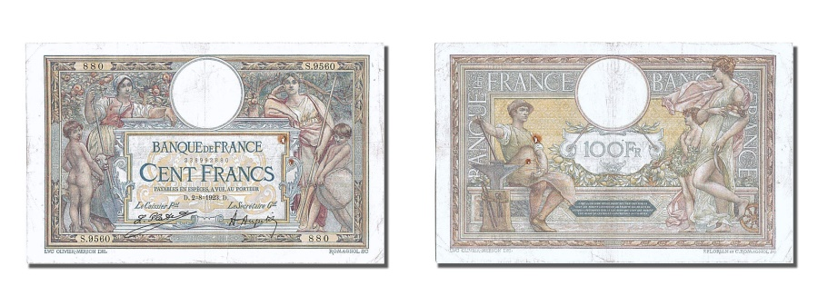 World Coins - France, 100 Francs, 100 F 1908-1939 ''Luc Olivier Merson'', 1923, KM #71c,...
