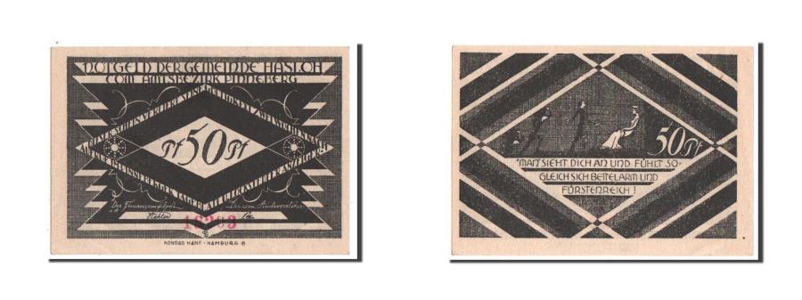 World Coins - Germany, Hasloh, 50 Pfennig, 1921, UNC(63), 18203, Mehl #584.2a