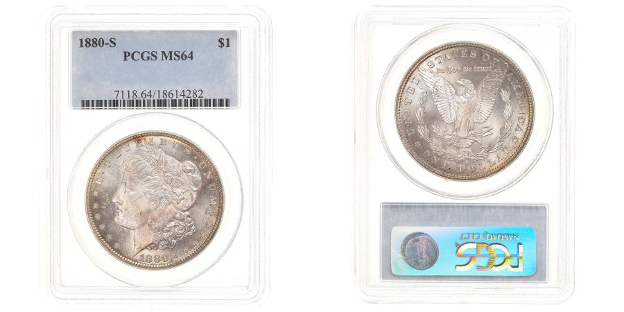 US Coins - Coin, United States, Morgan Dollar, Dollar, 1880, U.S. Mint, San Francisco