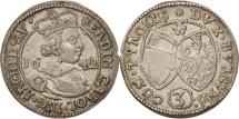 World Coins - Austria, Ferdinand Charles, 3 Kreuzer, 1642, Hall, MS(60-62), Silver, KM:852