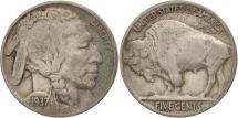 Us Coins - United States, Buffalo Nickel, 5 Cents, 1937, U.S. Mint, Philadelphia