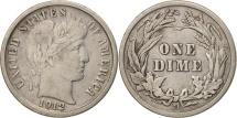 United States, Barber Dime, Dime, 1912, U.S. Mint, Denver, VF(30-35), Silver