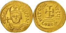 Heraclius 610-641, Solidus, 610-613, Constantinople,10th officin AU(55-58), Gold
