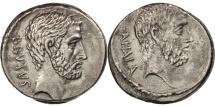 Ancient Coins - Marcus Junius Brutus, Denarius, Rome, AU(55-58), Silver, Crawford:433/2