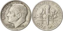 United States, Roosevelt Dime, 1961, Philadelphia, EF(40-45), KM 195
