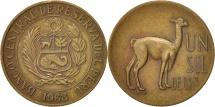 World Coins - Peru, Sol, 1968, Lima, AU(50-53), Brass, KM:248