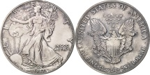 Us Coins - United States, Dollar, 1987, U.S. Mint, Philadelphia, MS(64), Silver, KM:273