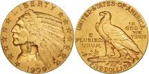 Us Coins - United States, Indian Head, $5, 1909, Denver, EF(40-45), Gold, KM:129