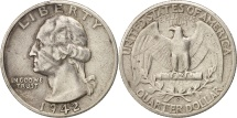 Us Coins - United States, Washington Quarter, 1942, San Francisco, KM 164