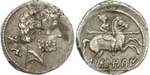 Ancient Coins - Coin, Spain, Bolskan, Denarius, EF(40-45), Silver, SNG BM Spain:710-732
