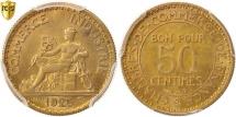 World Coins - France, Chambre de commerce, 50 Centimes, 1925, Paris, PCGS, MS65, MS(65-70)