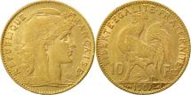 World Coins - France, Marianne, 10 Francs, 1907, Paris, EF(40-45), Gold, KM:846, Gadoury:1017