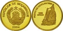 Mozambique, 1000 Meticais, 2004, Pedro da Covilha, MS(65-70), Gold