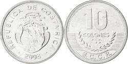 World Coins - COSTA RICA, 10 Colones, 2008, KM #228b, , Aluminum, 22.97, 1.15