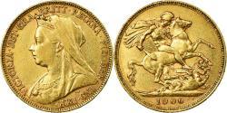 World Coins - Coin, Australia, Victoria, Sovereign, 1900, Melbourne, , Gold, KM:13