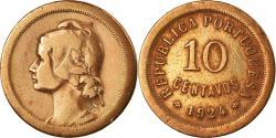 World Coins - Coin, Portugal, 10 Centavos, 1924, , Bronze, KM:573