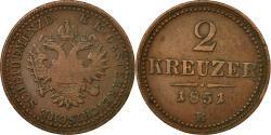 World Coins - Coin, Austria, Franz Joseph I, 2 Kreuzer, 1851, , Copper, KM:2189
